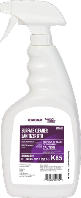 Monogram Clean Force Surface Cleaner Sanitizer RTU