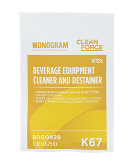 Monogram Clean Force Beverage Equipment Cleaner and Destainer