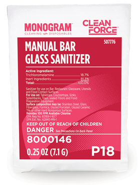 Monogram Clean Force Manual Bar Glass Sanitizer